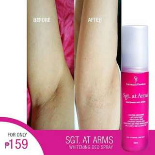 Sgt. At Arms deo and Whitening cream