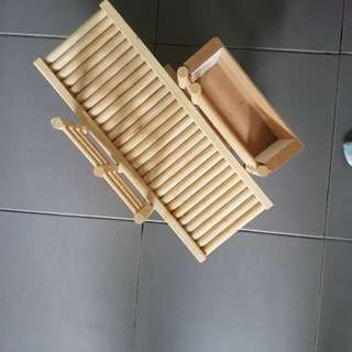 Used wooden see-saw toy for rabbit etc