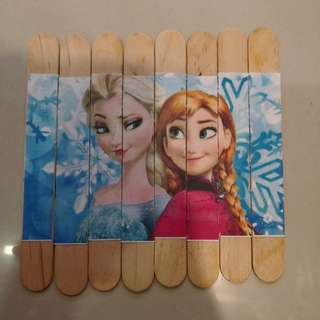 Frozen ice cream stick puzzle busy bag