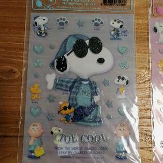 Snoopy 閃閃貼紙 stickers