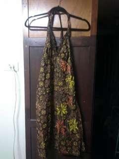 Sequined thai halter dress