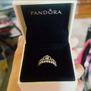 Authentic Pandora Princess Tiara Ring