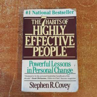 The 7 Habits Of Highly Effective People Book Stephen R Covey