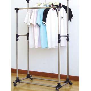 166 HD CLOTH RACK DOUBLE / HANGING CLOTHES RACK JCE