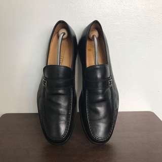 Black Florsheim Formal Leather Shoes for Men Loafers