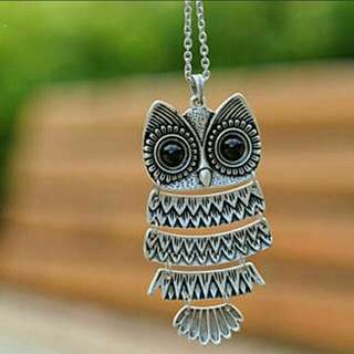 Free shipping!  Owl Necklace