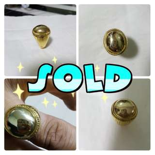 (SOLD)Besi kuning atas bingkai tembaga