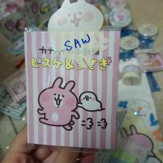 日本7-11 Kanahei 限定 粉紅兔兔文具 memo pad