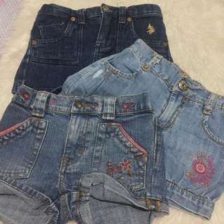 Branded baby shorts