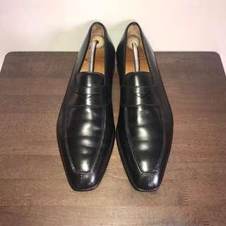 Crockett & Jones Split Toe Penny Loafers Formal Leather Shoes
