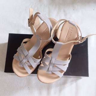 Sm Parisian Nude Wedge Sandals
