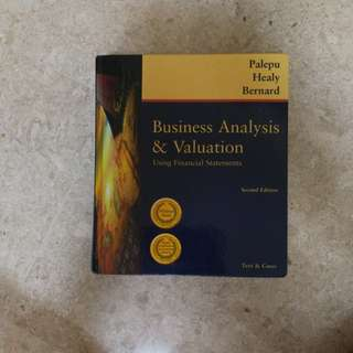 Business analysis & valuation