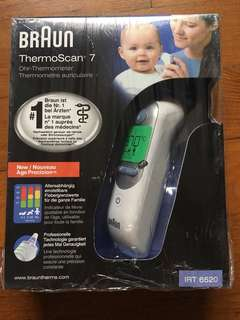 Braun thermoscan ear thermometer IR6250