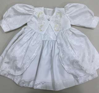 Baby Dress in White