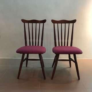 復古椅2張  H86 W36 D30