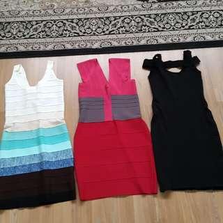 Bebe Bandeau dresses (HL style)