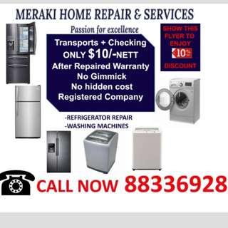 Repair refrigerator washing machine fridge
