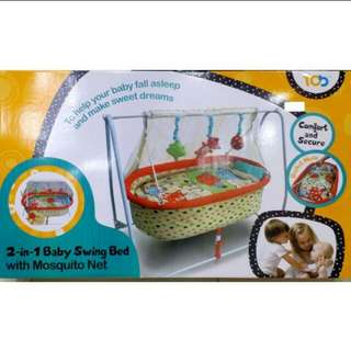 My Dear Baby 2 in 1 Swing Bed with mosquito net
