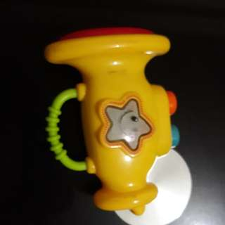 Toy trumpet with lights and sounds