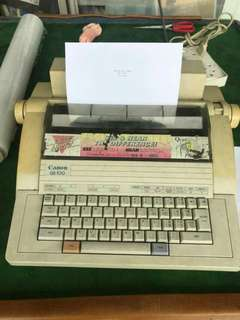 Typewriter electronic