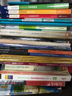 Lots of O level textbook & assessment books