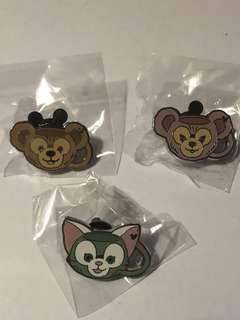 香港 迪士尼 徽章 Disney Pin Game Pin 水杯 duffy shelliemay gelatoni 全套