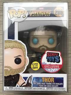 Funko Pop Thor glows in the dark (gitd) Asia (st) exclusive
