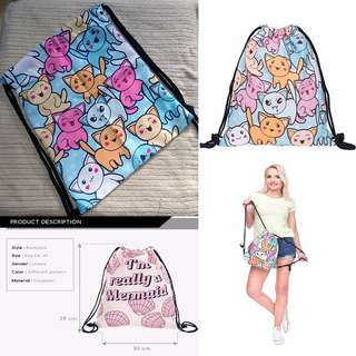 Drawstring Bag - Cats
