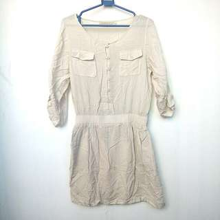 Cream / Beige Polo Dress