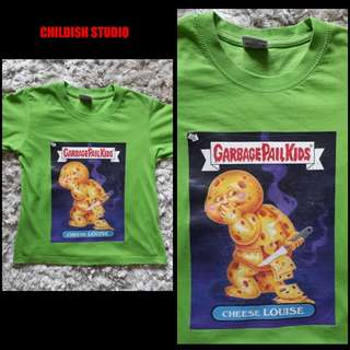 GARBAGE PAIL KIDS (Cheese Louise) t-shirt for kids age 7 years old.
