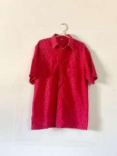 REPRICE Deep Fuschia Man Batik Kemeja