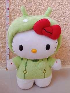 Hello Kitty in Green Alien Costume