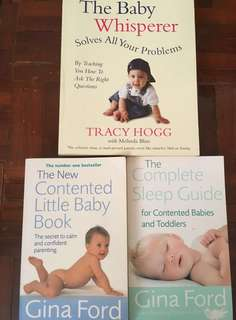 Books for taking care babies ( Gina Ford & Tracy Hogg)