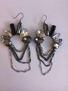 Mimco Swarovski Crystal Earrings