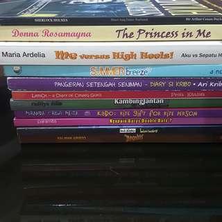 11 buku + ongkir