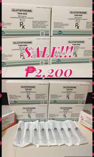 For sale tad glutathione 600mg with free vitamin c