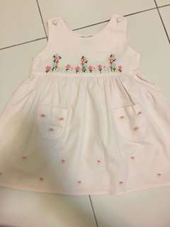 EMBROIDERY DRESS PINK 2years old