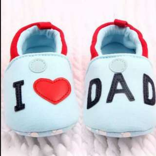 Lovely Toddler Baby Girls Boys Round Toe Flats Soft Slippers Shoes I Love MOM/DAD