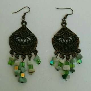 Ethnic Earrings with beads & crystals
