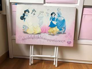Disney Princess foldable wooden table