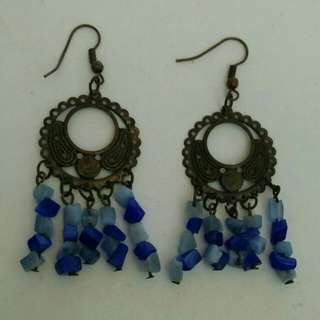 Ethnic Earrings with crystals & beads