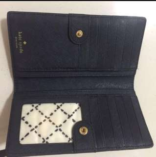 Kate Spade Authentic Dark Blue Purse Wallet Gift