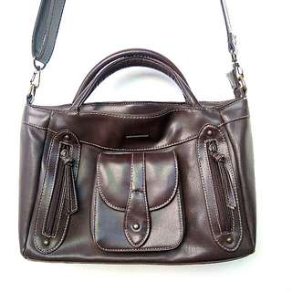 Sophie Martin Brown Sling / Hand Bag