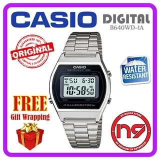 Casio B640WD-1AV Digital Retro Classic Silver Watch