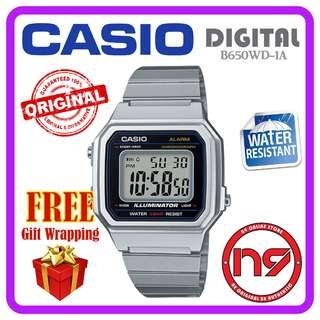 Casio B650WD-1AV Digital Retro Classic Silver Watch