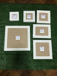 White Wood frame - A