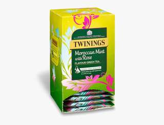 Twinings MOROCCAN MINT WITH ROSE - 15 PYRAMID BAGS (INDIVIDUALLY WRAPPED) 川寧摩洛哥薄荷玫瑰茶15個茶包(獨立包裝)
