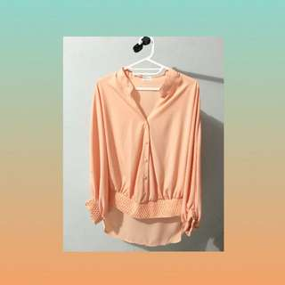 blouse peach gaudi