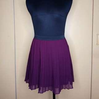 F21 purple skirt