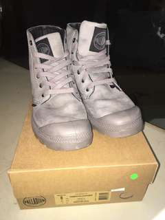 PALLADIUM pampas hi leather boot(gray)
